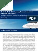BombardierI DB Leveraged Conference 20111013