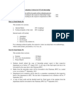 6 Semester Internship Evaluation Criteria