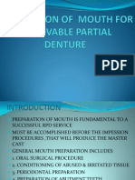 Preparation of Mouth for Removable Partial 1