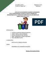 Gestion Ambiental de Los Residuos Solidos Generados en La Universidad Catolica Santo Toribio de Mogrovejo en La Cuidad de Chiclayo en Los Meses de Abril