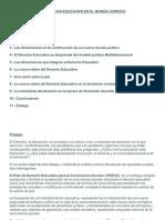 EL DERECHO EDUCATIVO EN EL MUNDO JURIDICO