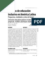 Politicas de educación inclusiva en america latina, Andres paya - Revista educación inclusiva vol.3 n-2