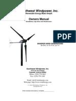 Manual Instalacion y Mantenimiento Generador Eolico