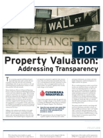 Property Valuation and FAS 157 in Commercial Real Estate