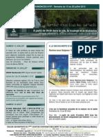 Bulletin d'annonces N°67 Semaine 13 au 20 juillet 2013