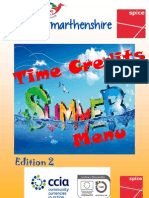 Menu - Summer Carmarthenshire Communities First