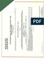Fm Industrial - Sgs Certificado 2012