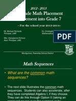6th Grade Math Placement Into 7th Grade