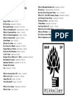 Mikkeller Bar Draft List