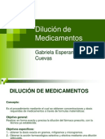 Dilucion de Medicamentos