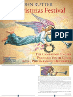 John Rutter - A Christmas Festival CD Booklet