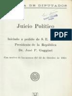 JUICIO POLITICO - PRIMERA PARTE - 23 DE OCTUBRE DE 1931 - PORTALGUARANI