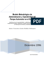 Modelo de administración del Parque Automotor en el Estado