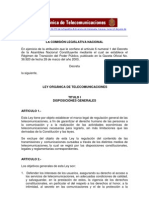 Ley venezolana Publicada en Gaceta Oficial N° 36