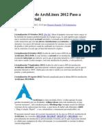 Instalación de ArchLinux 2012 Paso a Paso