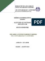 MÓDULO FORMATIVO AUDITORÍA DE SISTEMAS mar -ago 13