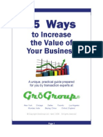 15 Ways to Increase the Value of Your Business