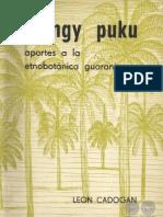 TANGY PUKU - APORTES A LA ETNOBOTANICA GUARANI - LEON CADOGAN - PORTALGUARANI
