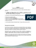 Actividad Unidad 1. Explorando Microsoft Excel 2010_V2