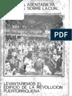 """Discurso de Mari Bras """"Aqui está la Zapata sobre la cual levantaremos el edificio de la revolución puertorriqueña"""""""