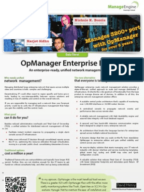 Opmanager Enterprise Edition: Manage