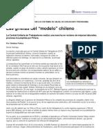 """Página_12 __ El mundo __ Las grietas del """"modelo"""" chileno"""