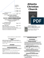 July 7, 2013 Church Bulletin