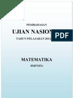 Soal Dan Pembahasan Un Matematika Smp 2012 Lengkap
