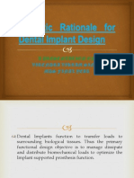 Scientic Rationale for Dental Implant Design