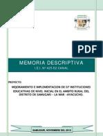 01 Memoria Descriptiva y Estudios Básicos - Canal
