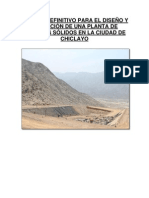 ESTUDIO DEFINITIVO PARA EL DISEÑO Y OPERACIÓN DE UNA PLANTA DE RESIDUOS SÓLIDOS EN LA CIUDAD DE CHICLAYO