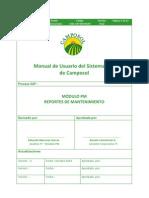 Manual de Usuario PM-050 Reportes de Mantenimiento