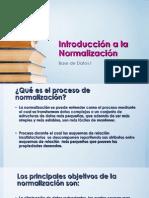 Introducción a la  Normalización