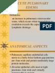 Acute Pulmonary Edema 1