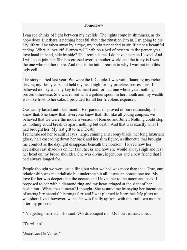 One word essays