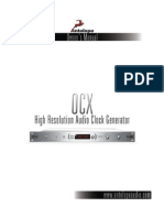 Isochrone OCX Master Clock Manual