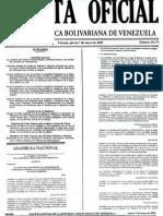 Gaceta Oficial de Venezuela 07 de Mayo 2009 Ley de Nacionalización Servicios Conexos a las Actividads de Hidrocarburos