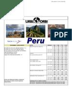 TARIFÁRIO REGULAR PERU 2009