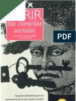 Abrir La Ciencias Sociales Wallerstein, I.