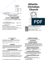 July 14, 2013 Church Bulletin