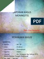 LAPORAN KASUS meningitis