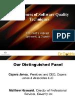Effectiveness of Sw Quality Technique Slides 2009