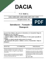 NT Nr. 9345A - Normativ Timp Manopera Logan