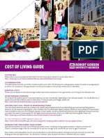 Student Cost of Living Guide 2014