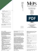 MOPS Brochure - Fall 2009