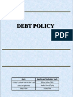 Debt Policy Final