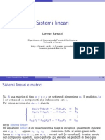 Sistemi lineari