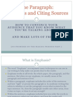 The Paragraph-Emphasis in Your Writing With Sources