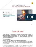 L11-Leak Off Test, Kick Tolerance & Kick Circulation Methods
