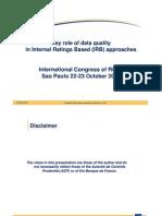 Importancia Da Qualidade de Dados Nas Abordagens IRB - Isabelle Thomazeau